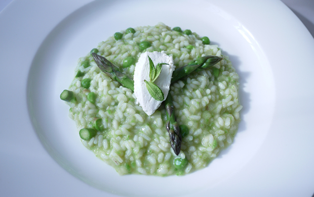 Springtime Risotto Recipe — Dishmaps