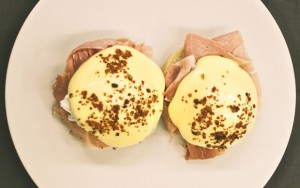 'The Eggs Benedict was served with what seemed like a kilo of treacle-roasted ham'