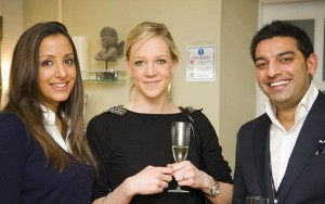 Champagne flowed at the launch of C.P. Hart's Notting Hill showroom