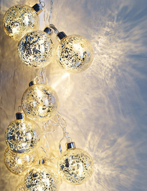 glass bauble lights