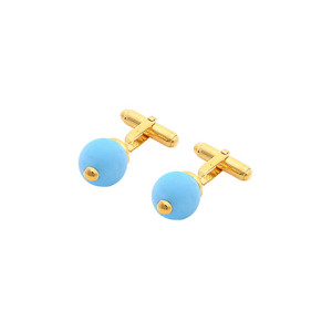 Meriko-London-gold-plated-sterling-silver-Turquoise-cufflinks-for-men-300x300
