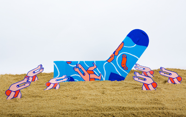 Wet Socks by graphic artist Thomas Hedger
