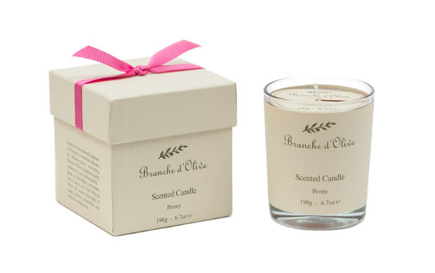 Branche d'Olive Peony Boxed candle - RRP £20