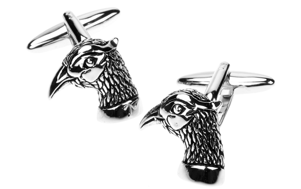 7. Pheasant Head Cufflinks